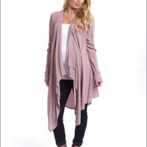 Pinkblush long flowy lavender cardigan